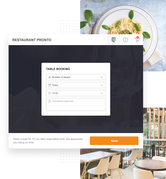 web design for restaurants with online food ordering and reservation Florida